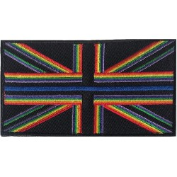 Rainbow Thin Blue Line VELCRO® Patch