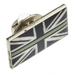 Thin Green Line Lapel Pin Badge