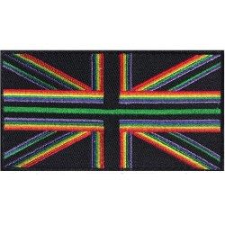 Rainbow Thin Green Line Hook & Loop Patch