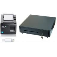 IOS Compatible Printer and cash drawer bundle