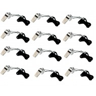 12 x Metal Whistle With Black Lanyard