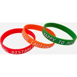 Social Distancing Awareness Wristbands