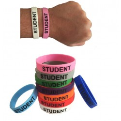 Student Colour Silicone Wristbands