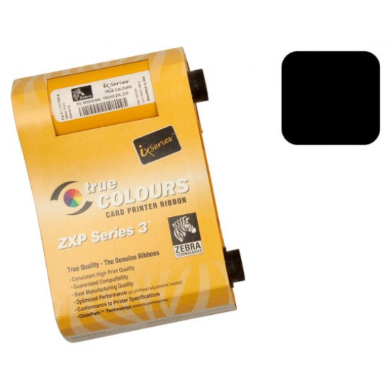 ZEBRA ZXP SERIES 3 BLACK RIBBON 800033-801 - 1000 PRINTS [R-Z-800033-801]